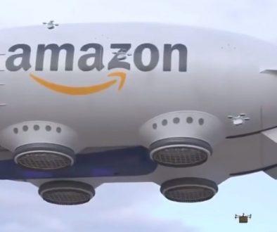 drone cargo Amazon con piccoli droni logistica